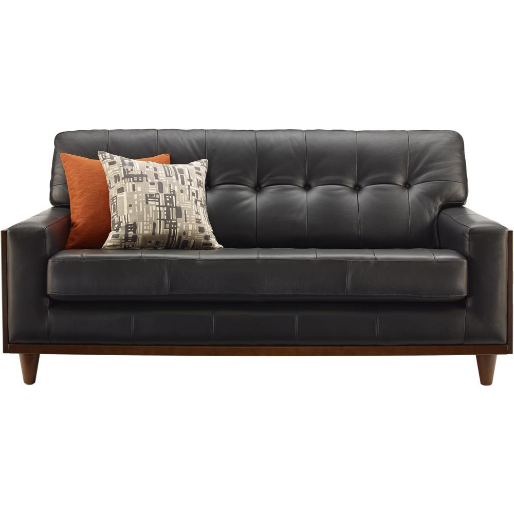 G Plan Vintage The Fifty Nine Small Leather Sofa ~ Vintage Black Leather Sofa